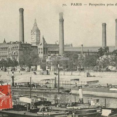 ELD 70 - PARIS - Perspective prise du Quai d'Austerlitz