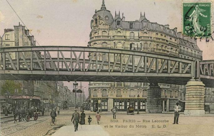 ELD 859 - PARIS - Rue Lecourbe et le Viaduc du Métro