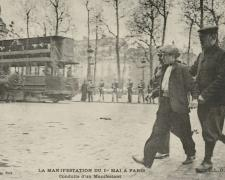 ELD - PARIS - Manifestation du 1er Mai - Conduite d'un Manifestant