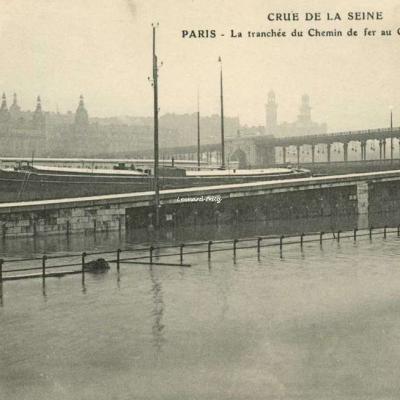 ELD - PARIS - La tranchée du Chemon de fer au Quai de Grenelle
