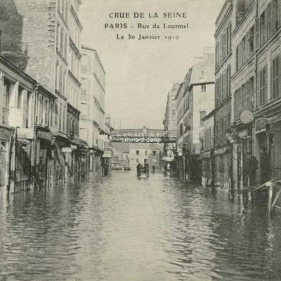 ELD - PARIS - Rue de Lourmel - Le 30 Janvier 1910