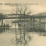 EM 11 - Inondations 1910 - Pont du Métro au Quai d'Austerlitz