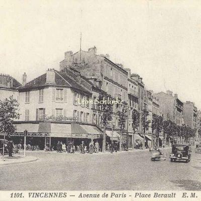 EM 1101 - Vincennes - Avenue de Paris - Place Bérault