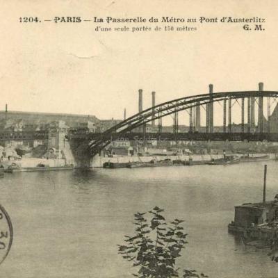 EM 1204 - La Passerelle du Métro au Pont d'Austerlitz