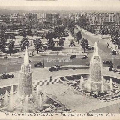 EM 24 - Porte de Saint-Cloud - Panorama sur Boulogne