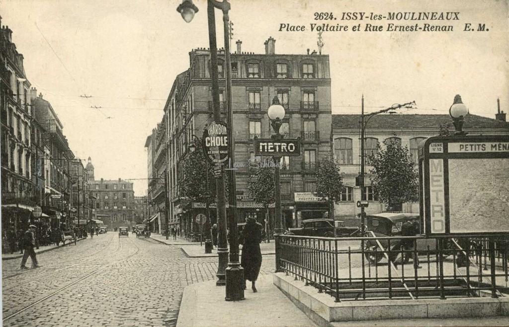 EM 2624 - Issy-les-Moulineaux - Place Voltaire et Rue Ernest-Renan