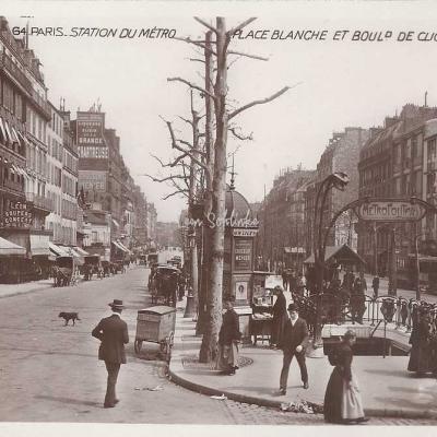 EOK 64 - Station du Métro - Place Blanche et Bd de Clichy