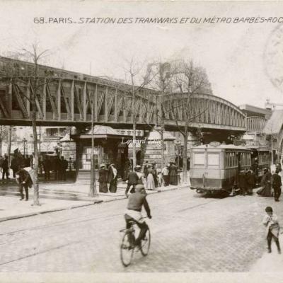 EOK 68 - PARIS - Station des Tramways et du Métro Barbès-Rochechouart