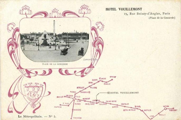 EPI - Le Métropolitain n° 5 - HOTEL VOUILLEMONT