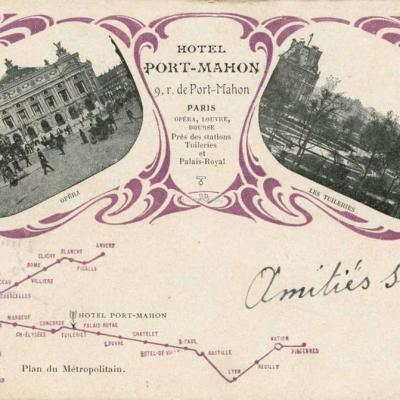 EPI - Plan du Métropolitain - Hôtel PORT-MAHON