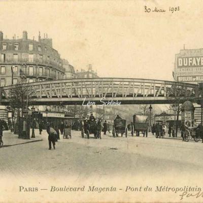 ER 104 - Boulevard Magenta - Pont du Métropolitain