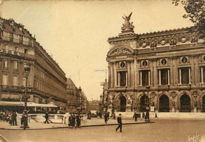 Erpé 30 - PARIS - Place de l'Opéra. Rue Auber