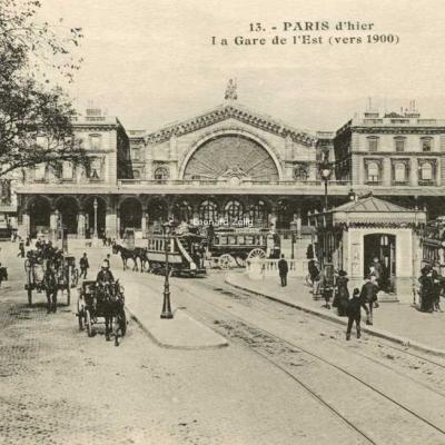 ES Paris 13 - PARIS d'hier - La Gare de l'Est (vers 1900)