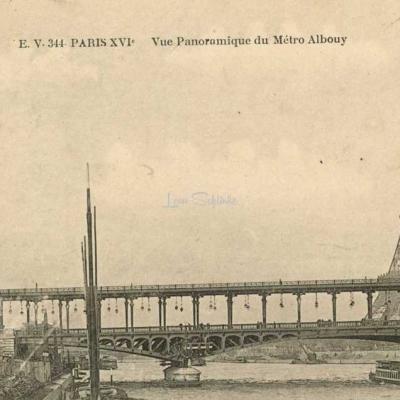 EV 344 - PARIS XVI° - Vue Panoramique du Métro Albouy