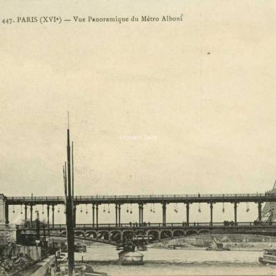 EV 447 - PARIS (XVI°) - Vue Panoramique du Métro Alboni