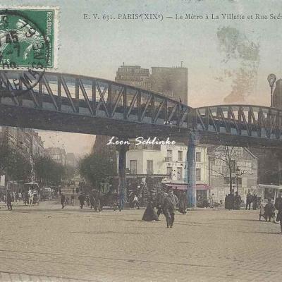 EV 631 - Le Métro à la Villette et Rue Secrétan