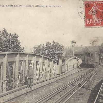 EV 734 - Station d'Allemagne, sur la voie