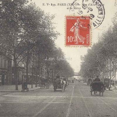 EV 839 - Rue d'Allemagne et le Métro