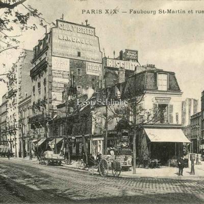 EV - Faubourg St-Martin et rue Lafayette