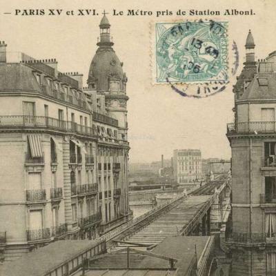 EV - PARIS XV et XVI - Le Métro pris de Station Alboni