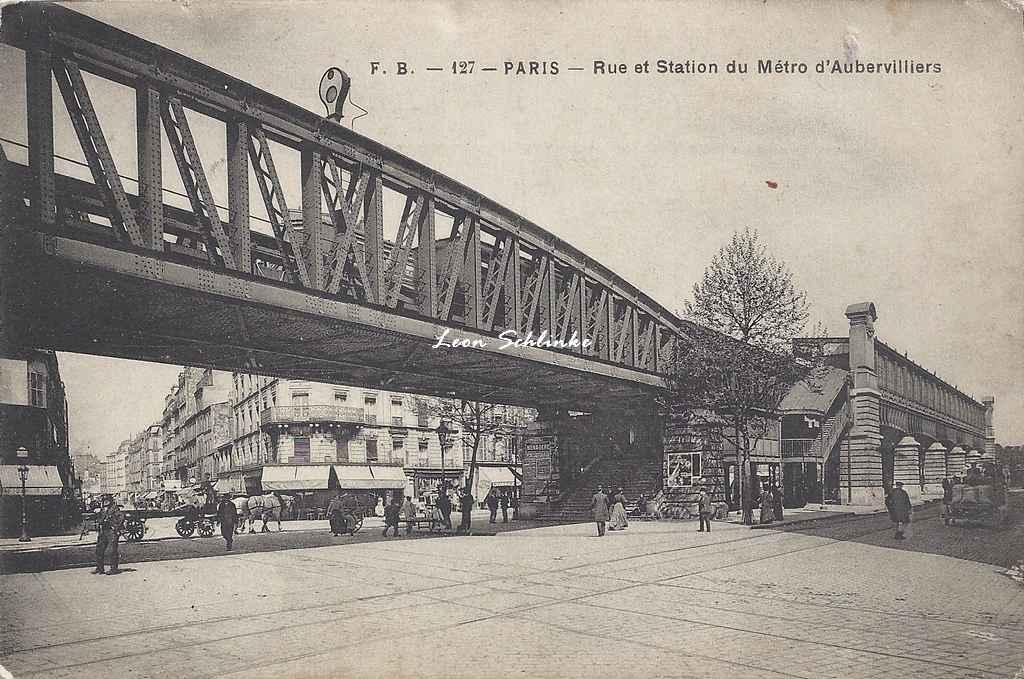 FB 127 - Rue et Station du Métro d'Aubervilliers