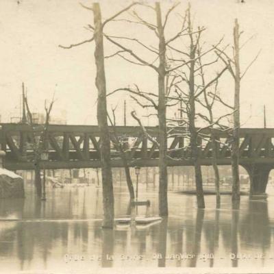 FE - Crue de la Seine 1910 - Quai de la Rapée