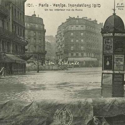 FF 101 - Paris-Venise - Un lac intérieur Rue de Rome