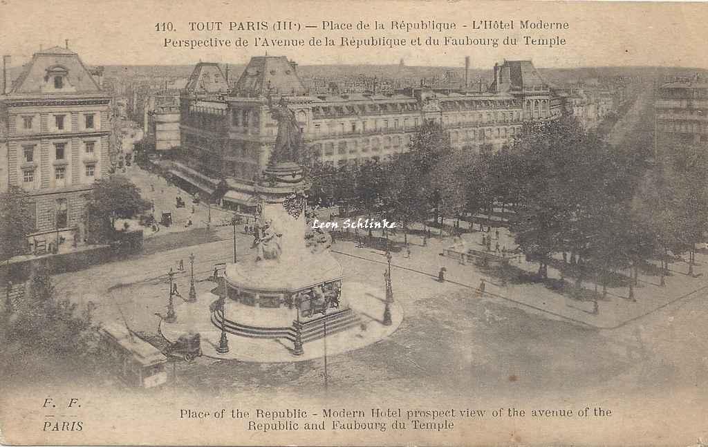 FF 110 - Place de la République - Hôtel Moderne