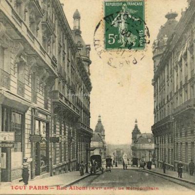 FF 1213 - TOUT PARIS - Rue Alboni, le Métropolitain