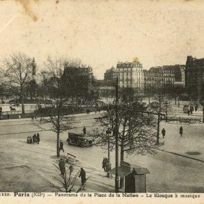 FF 1220 - Panorama de la Place de la Nation - Kiosque à musique