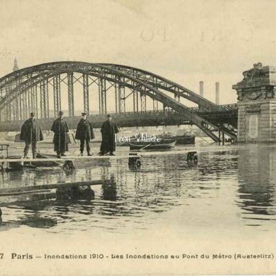 FF 127 - Inondations 1910  au Pont du Métro (Austerlitz)