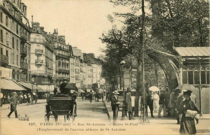 FF 1297 - Rue St-Antoine - Métro St-Paul