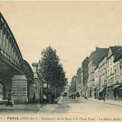 FF 1310 - PARIS (XIII° Arr.) - Boulevard de la Gare à la Place Pinel - Le Métro aérien