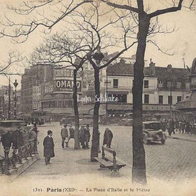 FF 1321 - La Place d'Italie et le Métro
