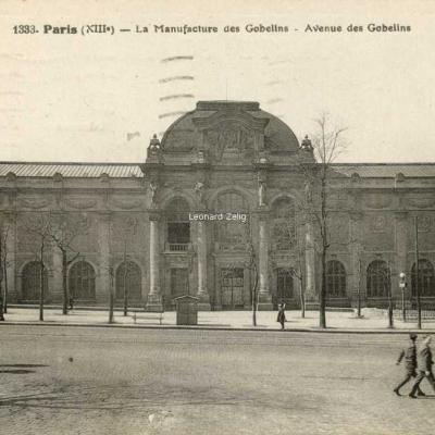 FF 1333 - Paris XIII° - La Manufacture des Gobelins - Avenue des Gobelins