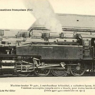 FF 134 - Les Locomotives Françaises (Est)