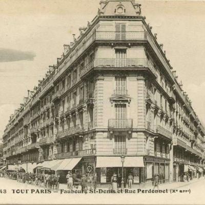 FF 1343 - TOUT PARIS - Faubourg St-Denis et Rue Perdonnet