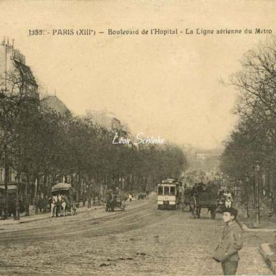 FF 1353 - Boulevard de l'Hôpital - La Ligne aérienne du Métro