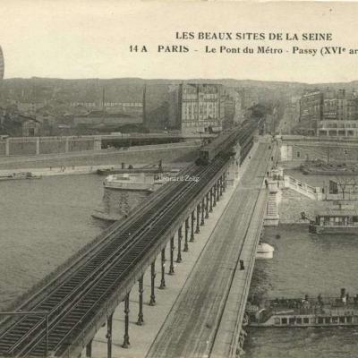 FF 14 A - PARIS - Le Pont du Métro - Passy (XVI° arrt)