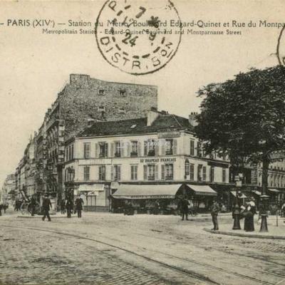 FF 1400 - PARIS (XIV°) - Station du Métro Boulevard Edgard-Quinet