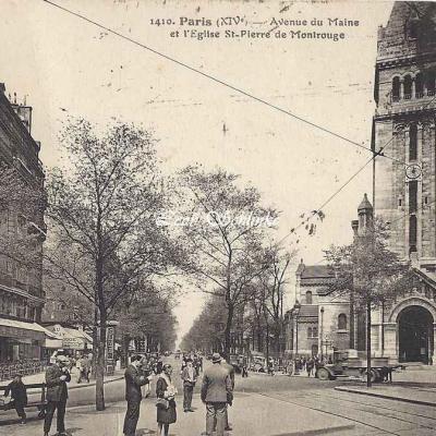 FF 1410 - Avenue du Maine et l'église St-Pierre de Montrouge