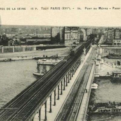 FF 15 P - Tout PARIS - 54. Pont du Métro - La Grande Roue