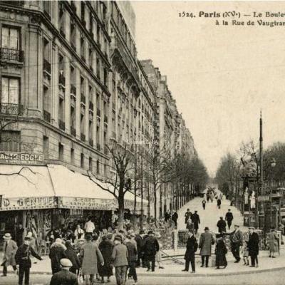 FF 1524 - Paris - Le Boulevard Lefèvre à la Rue de Vaugurard