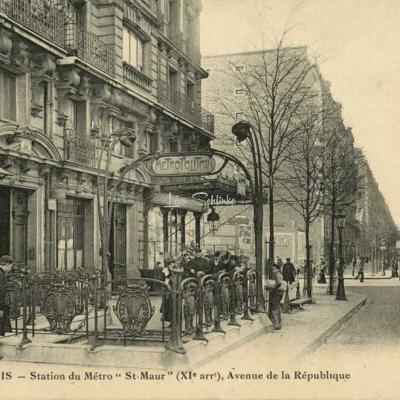 FF 1541 - Station du Métro ''St-Maur'', Avenue de la République