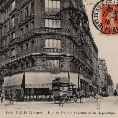 FF 1564 - PARIS (XI° arrt.) - Rue St-Maur à l'avenue de la République