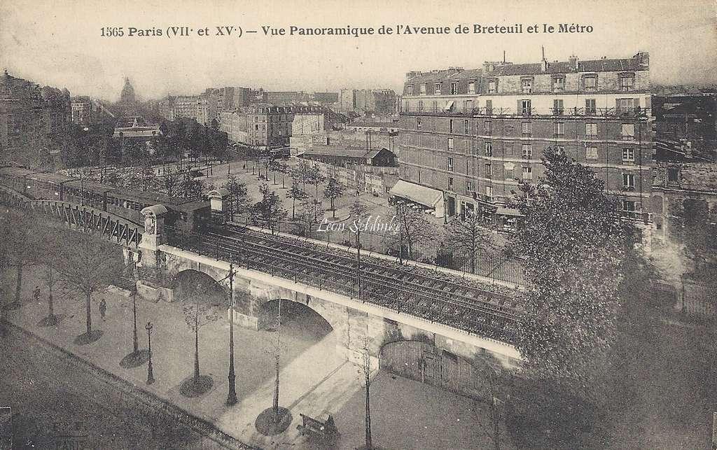 FF 1565 - Vue panoramique de l'Avenue de Breteuil et le Metro