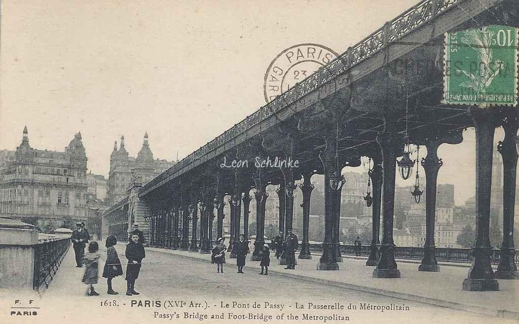 FF 1618 - Le Pont de Passy - Passerelle du Métropolitain