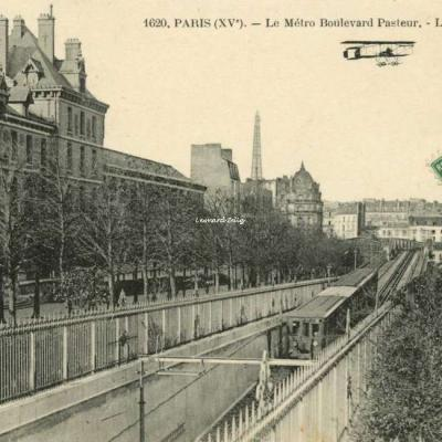 FF 1620 - PARIS (XV°) - Le Métro Boulevard Pasteur - La Tour Eiffel