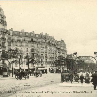 FF 1635 bis - Boulevard de l'Hôpital - Station du Métro St-Marcel