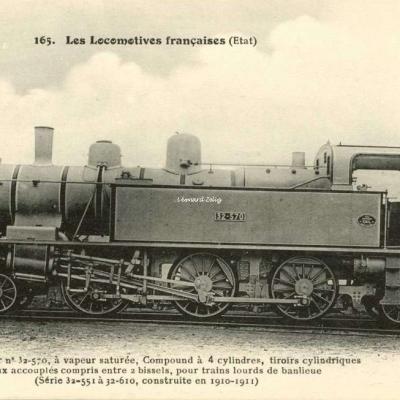 FF 165 - Les Locomotives Françaises (Etat)